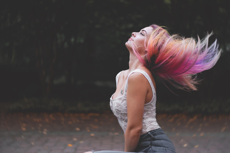 Flera färger i hår